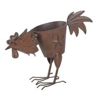 Rooster Planter With 1 Solid Feather by Decorshop $14.95