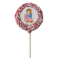 Patriotic Flag Bear Chocolate Covered Oreo Pop