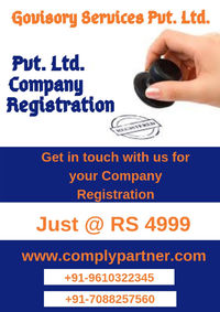 Comply Partner provides you online Pvt. Ltd. Company Registration Online Services at reasonable price in India.