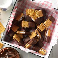 """Combine marshmallow creme, chocolate, graham crackers and more for a summery delight at any time of year. �€""""Stephanie Tewell, Elizabeth, Illinois"""