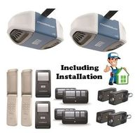 Two Garage Door Openers Chamberlain 1/2hp Belt drive including Installation $650.00