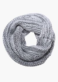 Round About Infinity Scarf in Black/white