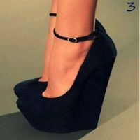 $349.99 Sexy Leather Round Toe Ultra High Heel Banquet Spring Summer Fall Fashionable Cheap Prom Shoes