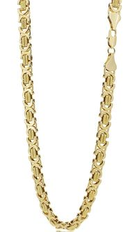 Men's Luxury 18k Gold Plated 9mm Hip Hop Bling Solid Chain Byzantine Necklace £58.08