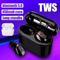 [Bluetooth 5.0] Portable TWS True Wireless Earphone Mini Noise Cancelling Stereo Sport Headphone with Charging Box