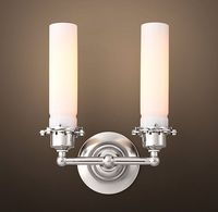 Edison Milk Glass Double Sconce - Polished Nickel $159 Restoration Hardware