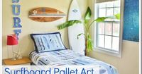 Surfboard Pallet Art sign via