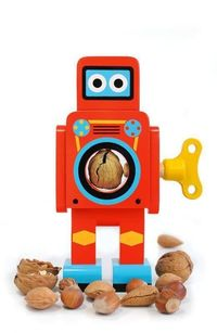 Small Wooden Robot Nut Cracker £14.99