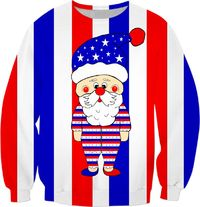 Patriotic Santa USA Sweatshirt $59.95