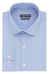"""Kenneth Cole REACTION Men's Unlisted Slim Fit Check Spread Collar Dress Shirt, Light Blue, 15""""-15.5"""" Neck 32""""-33"""" Sleeve $18.56"""