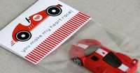 Kids with a need for speed will get a kick out of this You Make My Heart Race ($5) valentine found on Etsy.
