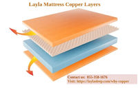 Layla mattresses are made of copper with very tiny copper particles infused throughout the layer of memory foam for a cooler effect and cleaner sleep. Contact for more information 855-358-1676