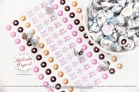 Personalized Donut Themed Valentine Candy Stickers for Kids / Baby Shower Dessert Table Decor / Custom Party Favors for First Birthday $7.48