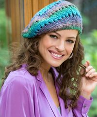 knitting patterns, berets and butterflies.