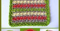 Summer Stripes Dishcloth ~ Rhelena ' CrochetN'Crafts