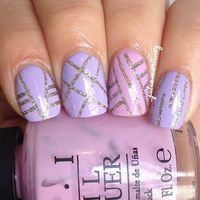 Pastel striping tape mani! colors used: #chinaglaze I'm not lion, #Sallyhansen Lacey lilac & #opi don't sparrow me the drama -