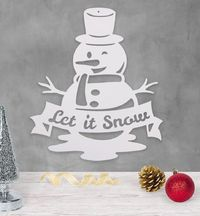 Let It Snow - Snowman - Metal Wall Decor $57.99 �œ�Handcrafted in the USA! �œ�