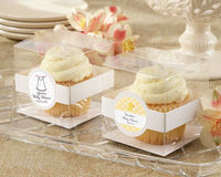 "You've heard the cliche ""It's what's inside that counts!"" It's absolutely true for Kate Aspen's personalized cupcake boxes. These clear, 380-degree display boxes let the cupcakes have all the glory...except for the ..."