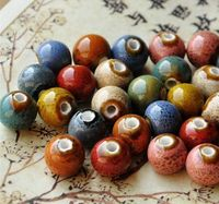 Pack of 40 Round Glazed Ceramic Beads. Different Colours. 10mm Multicoloured Speckled Ball Spacers £7.19