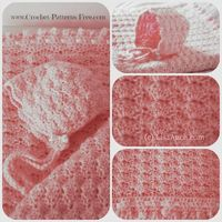 Love these adorable shell stitch pattern s- blanket and bonnet are both absolutely adorable! �œ�Teresa Restegui http://www.pinterest.com/teretegui/�œ�