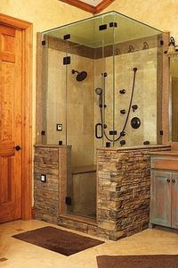 gorgeous-- our old shower was like this, but had a 9 foot diagonal. Can't wait to build it again in our home!