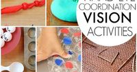 Vision activities for kids including visual perceptual activities, visual motor integration, hand-eye coordination, figure ground, visual discrimination, and al