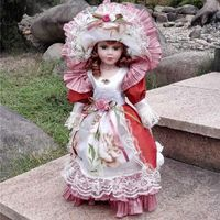 Ceramic porcelain doll High Quality Toy Gift For Girl $79.00