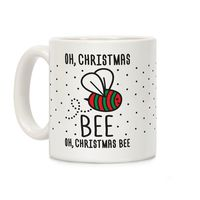 �œ� Handcrafted in USA! �œ� Support American Artisans Oh, Christmas Bee Ceramic Coffee Mug $14.99