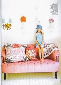 Pink Tufted Couch...I would love to have this in the living room of my future home.
