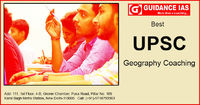 Guidance IAS is the No. 1 Institute for UPSC, Civil Services Examination in India. We are the Best UPSC Geography Coaching Institute in Delhi because our team is fully dedicated to provide an excellence in the Geography Optional Subject. By Conducting Reg...