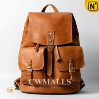 CWMALLS® Leather Laptop Backpack for Men CW915793