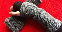 Ravelry: Outlander Inspired Knitted Cable Wristlets pattern by Elaine Furlotte