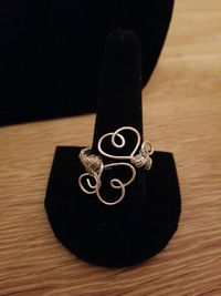 Wire Wrapped Double Heart Ring- Available in Bronze, Silver, Gold and Copper $7.00