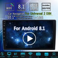 10.1Inch 2Din for Android 8.0 Car MP5 Player 1+16G IPS 2.5D Touch Screen Stereo Radio GPS WIFI FM