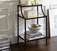 like the mutli tier,feels light & airy, con: no closed storage. Etagere Bedside Table