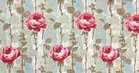 Vintage Home - Fabulous 1950s Pink Roses Curtains.