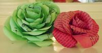 Upcycled Paper Flowers Books and Hymnals by BellesNBoosBaubles, $5.00