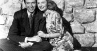 "Jimmy Stewart and Donna Reed in ""It's a Wonderful Life""."