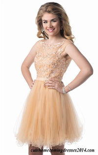 Short Beaded Lace High Neck Prom Dresses Epic Formals 3871