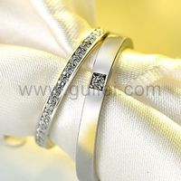 Gullei.com Matching Unisex Sterling Silver Engraved Promise Rings Set