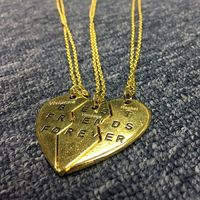 Heart BFF Necklaces Best Friends Forever Set for 3 https://www.gullei.com/engraved-best-friends-forever-heart-necklaces-for-3-people.html