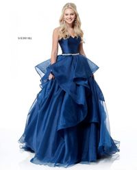 2018 NAVY CHEAP SHERRI HILL SPRING 51701 SWEETHEART LONG BALL GOWN