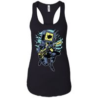 Rock Is Dead - Vintage Art - Women's Racerback Tank Top $19.97
