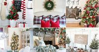 See my Christmas Home tour with Country Living! You'll find lots of glam holiday decorating ideas using shimmer, metallics, natural elements & neutrals.