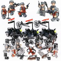 German Soldiers WW2 Minifigures 6-Pack with 3 Sidecars + Weapons $24.90