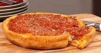 """Chicago-Style Deep Dish Pizza. Might be a bastardization...but also a """"must try."""""""