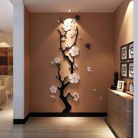 Plum flower 3d Acrylic DIY wall decor $47.50