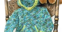Caron International Yarns and Latch Hook Kits | Free Project | Toddler Hoodie