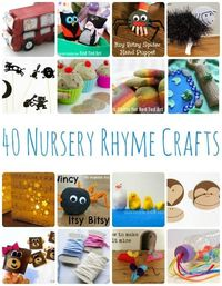 We love Nursery Rhymes and LOVE crafts and activities to go with them. Here are 40 Nursery Rhyme Crafts to go with some of the most popular Nursery Rhymes and Songs.