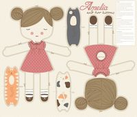 Amelia and her kittens fabric by stacyiesthsu on Spoonflower - custom fabric